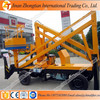 2016 CE SGS TUV Factory price aerial articulating boom lift/ towable lifting platform