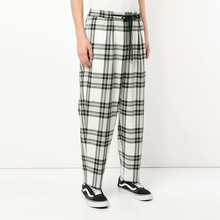 Männer der Kordelzug Wolle Mischung Plaid Casual Lose Fit <span class=keywords><strong>Hosen</strong></span> Straße Tragen <span class=keywords><strong>Hosen</strong></span>