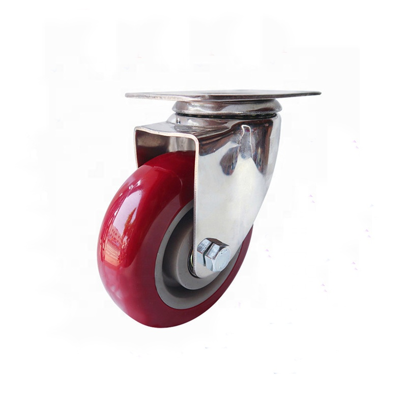 Silent casters 3 inch Chemical resistant S.S. casters CW-103