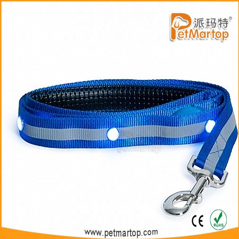 3 Color Flash Fuction Soft Durable Reflective Striping leads Jewel Led dog Neck leash