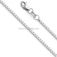 Fashion High Quality Stainless Steel Silver Plated Box Chain 1mm Box Link Chain Necklace