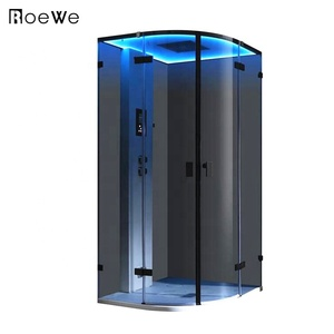 design glass shower room cabinet enclosure,ozone steam sauna box combination with blue tooth function for indoor luxury bath