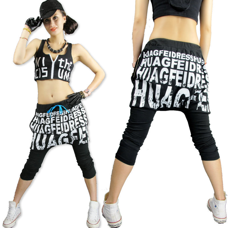 New fashion Brand Harem Hip Hop Dance pants Sweatpants letter Print  Costumes female casual trousers ba1787805