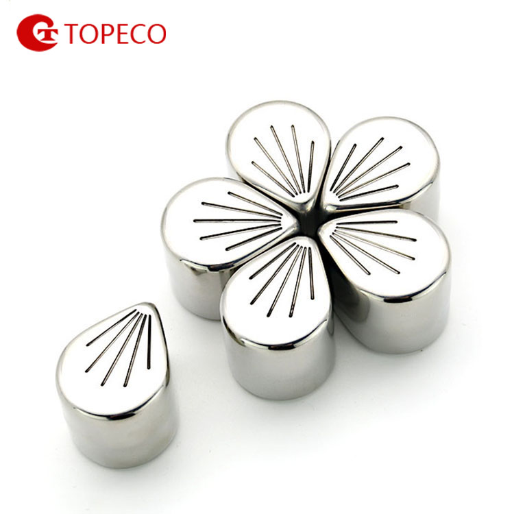 Use-Friendly Sakura Shaped stainless steel christmas decorations ice cubes