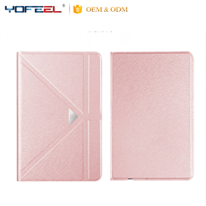 Smart Leather Foldable Pu leather case Back Cover Case Smart Cover For iPad Air4 Air For Ipad mini