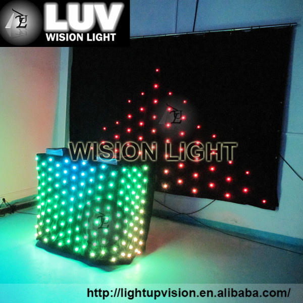 Certificate wall decoration RGB tri color dj night club stage vision curtain wall decoration display