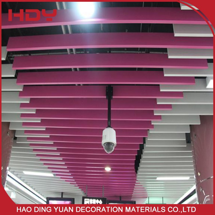 Colourful Aluminum Building Material Suspended Baffle Ceiling Fire