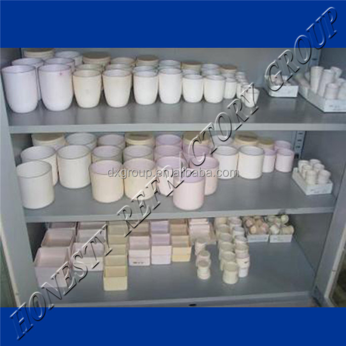 1800c Laboratory High Temperature Al2O3 Ceramic Alumina Crucibles