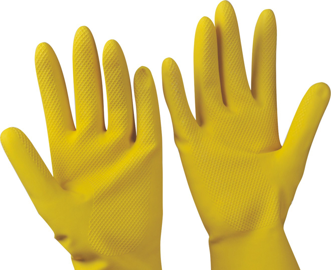 L size velvet lining rubber Gloves household cleaning kitchen trade assurance