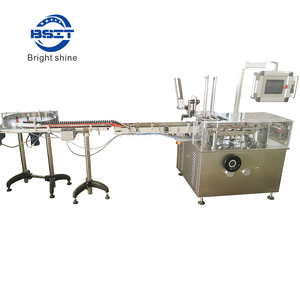 PLC control vial bottle paper carton making packing machine with printing function