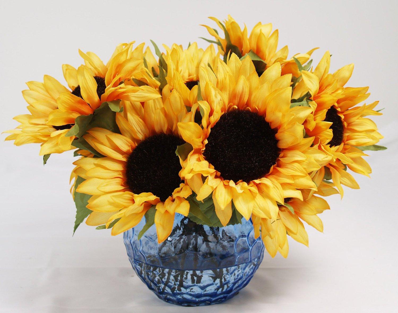 Buy Flower Arrangements Sunflower Burst Water Floral Silk Floral