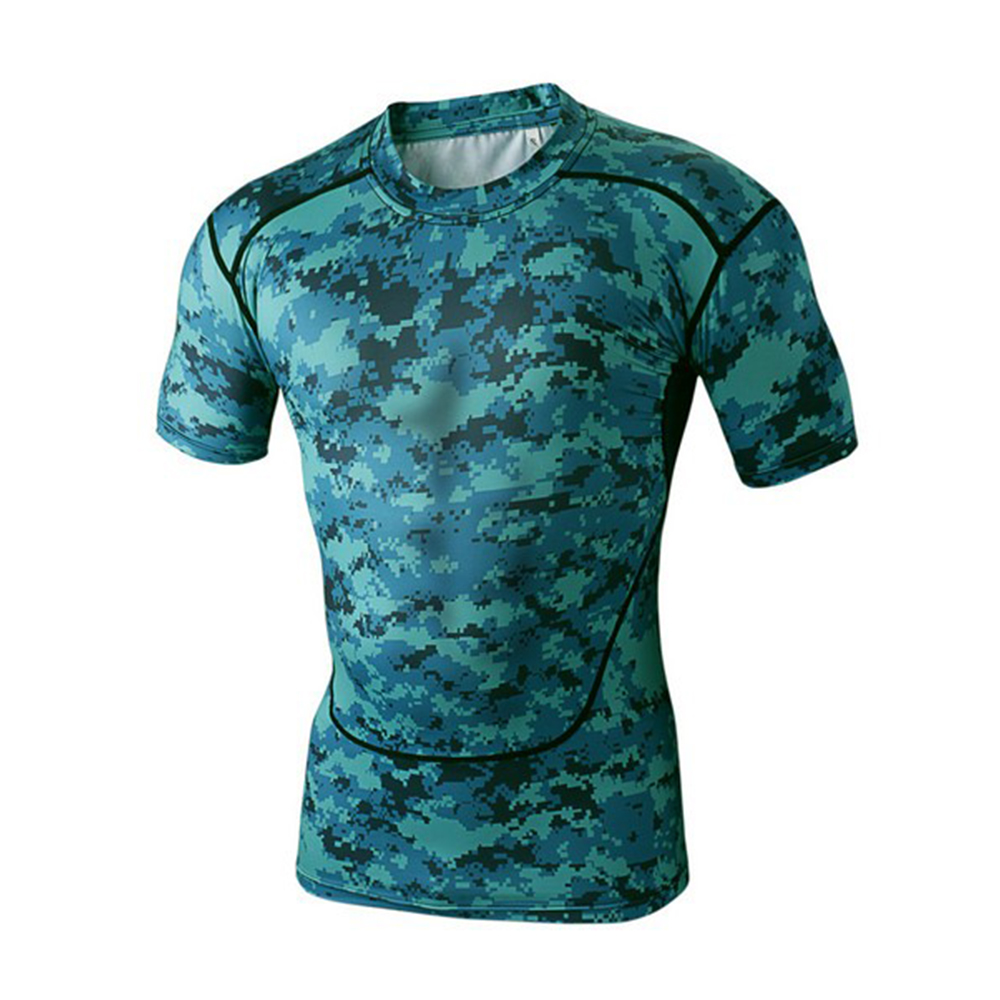Spandex sport shirt sublimation compression t-shirt