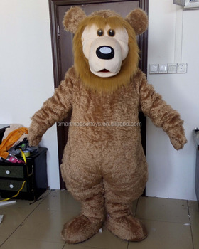 adult brown bear mascot costume make bear costume