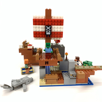 DIY Stitching Building Block Toys for Pirate Ships