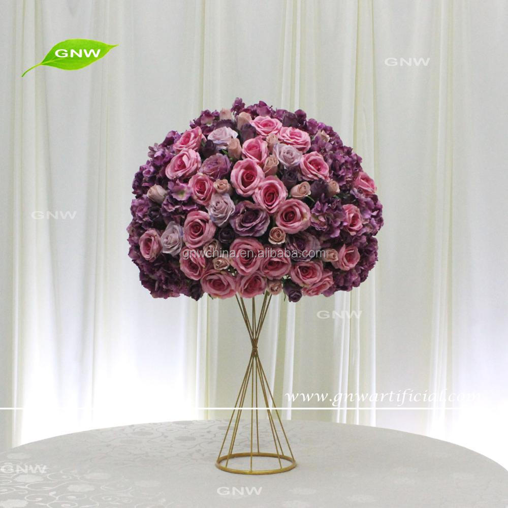 GNW CTRA-170809-003 Hot sale purple artificial silk flowers bouquet for wedding decorations