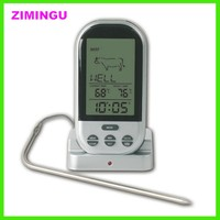 low price 2 probe remote food meat thermometer wireless meat cooking bbq thermometer for grilling/oven