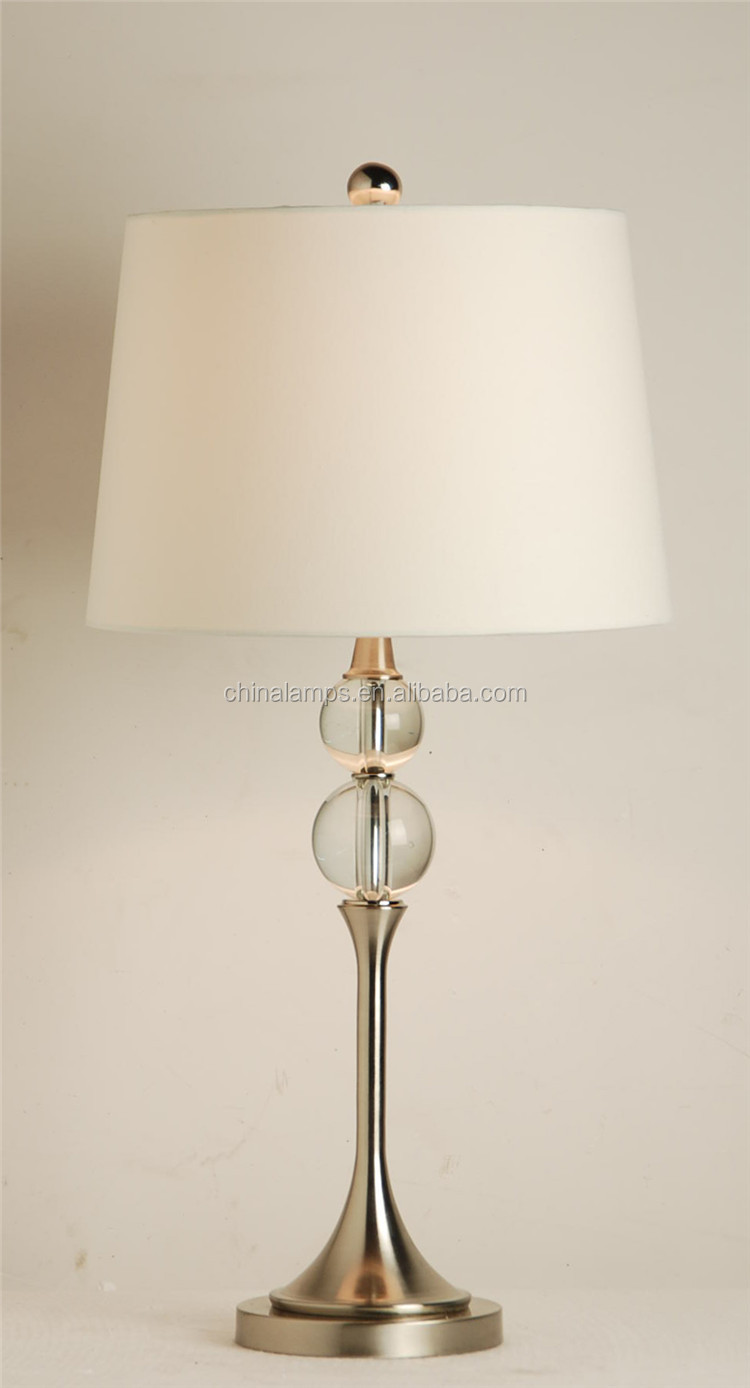 Australia Style Pink Crystal Table Lamp With Empire Lampshade For ...