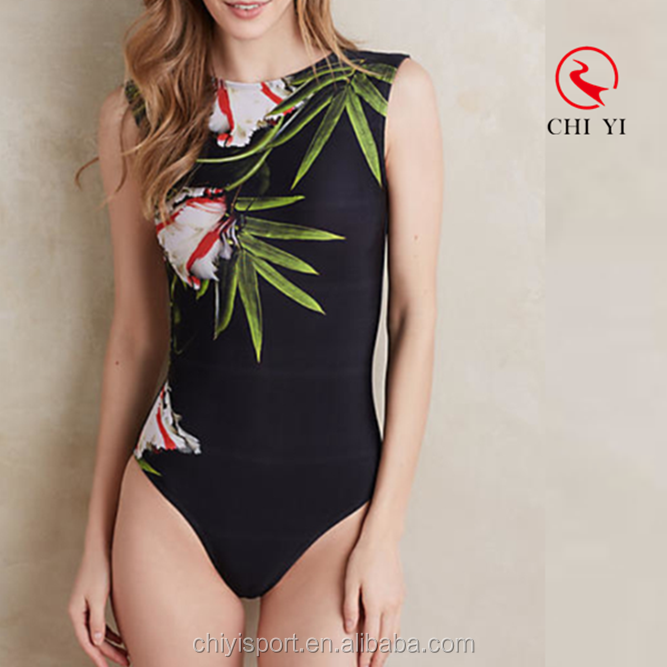 ODM/OEM China supplier high neck swimwear women open back one piece bathing suit