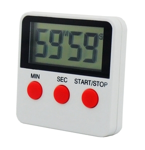 high quality square Magnetic black mini digital kitchen timer for home DTH-68