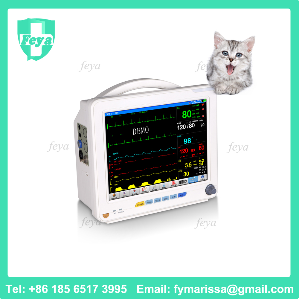 FY-2000L-V Medical Monitor Veterinary Equipment Animal Monitor for Dog and Cat