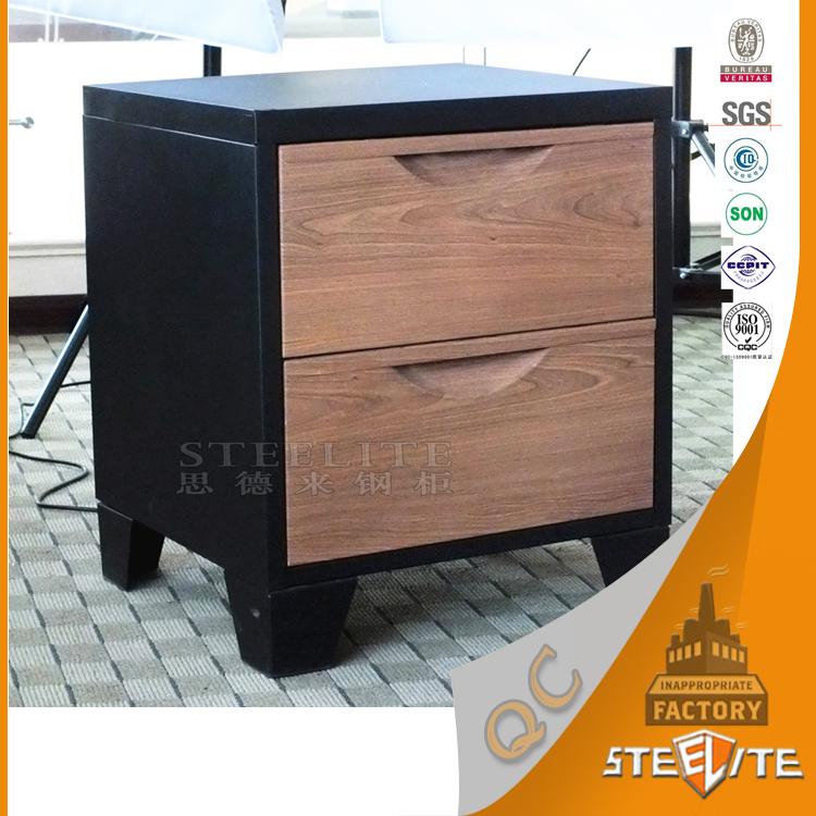Walmart Hot Sale American Style Cheap Price Modern Small 2 Drawer Bedside Locker  Table / Nightstand