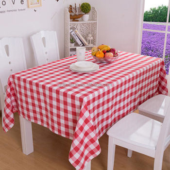 Red Plaid Tablecloths Covers Outdoor Picnic Party Disposable Plastic Tablecloth