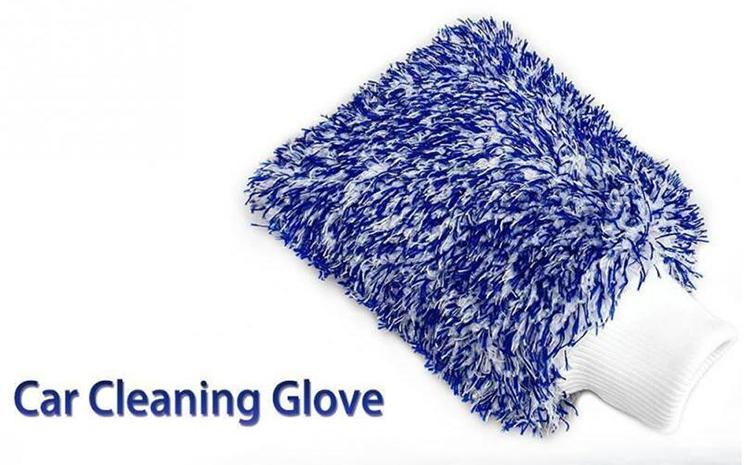 Sonline Guante Microfibra de Limpieza Lavado para Coche Cocina Hogar