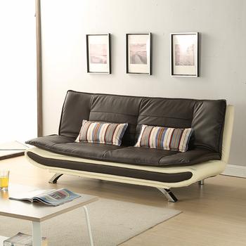 Sleeper Sofa Bed European Black Leather Folding