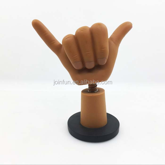 Hot sale Custom Hand shake plastic bobble head figures moving toys factory for collection