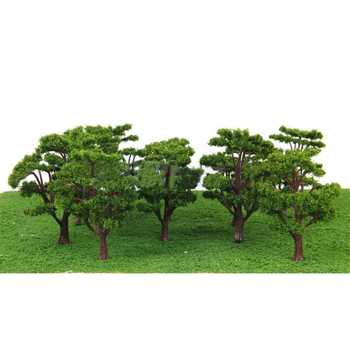 Bememo 22 Pieces Model Trees 1 18 - 6 29 inch Mixed Model Tree Train