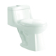 Elongated bowl bathroom one-piece 1 piece ceramic siphon toilet