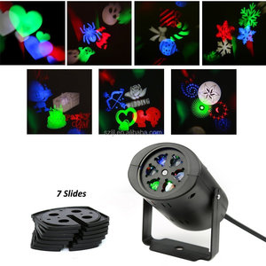 New RGBW Christmas DJ Party Ktv 7pcs LED Gobo Disco Light LED Stage Projector