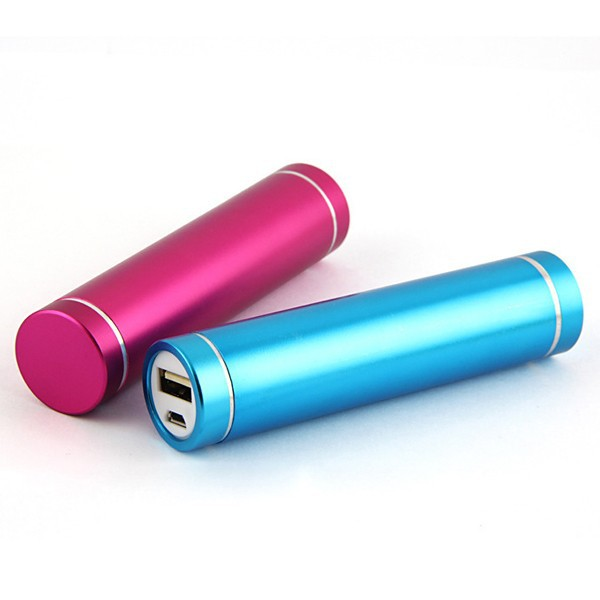Rechargeable 18650 Lithium Battery colorful universal portable power bank with 2600 high capacity