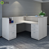Modern design wooden office furniture small l shaped reception desk for office