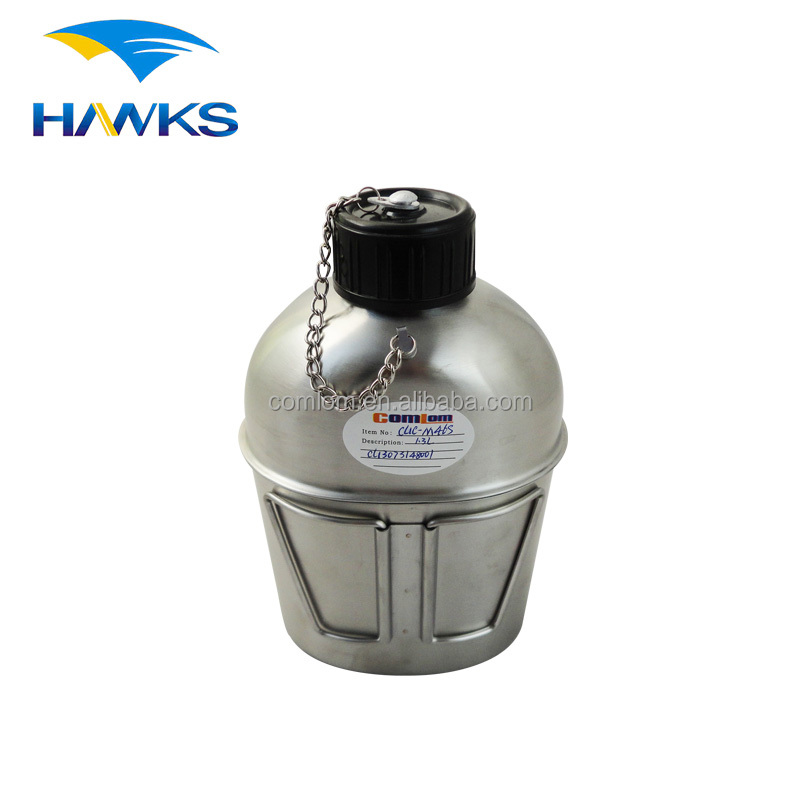 CL1C-M46S Comlom 1.0L/1.3L Stainless Steel Army Military Water Canteen with Butterfly Handle Cup