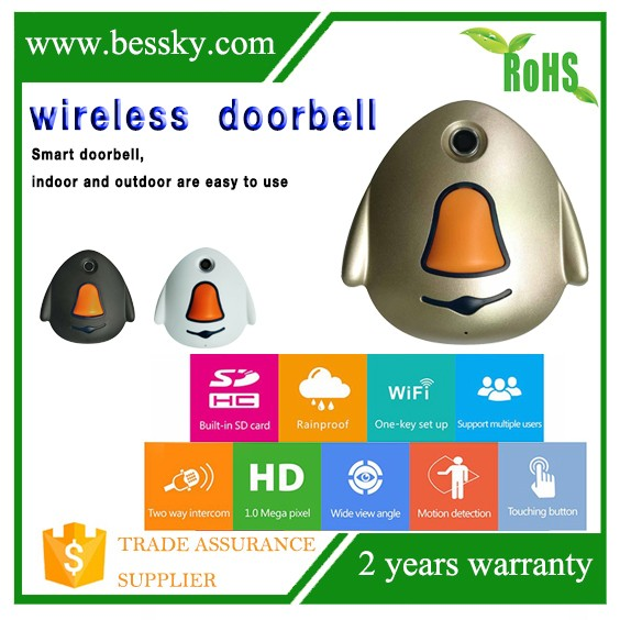 Bessky New Product HD 720P wireless video doorbell 180 degree wide angle samrt home security