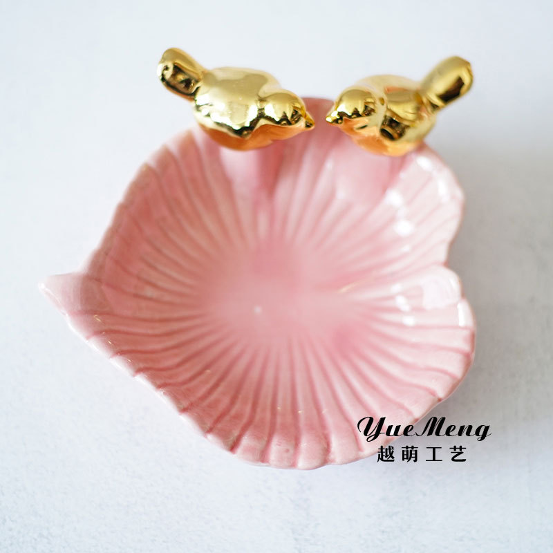 Gold Hand Trinket Tray Ring Ceramic Jewelry Dish For Wholesale