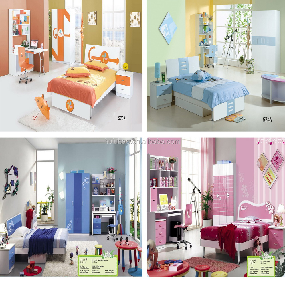 Factory Price Cinderella Bed Set , Writing Tables Mdf For Children, Girls Bedroom  Sets