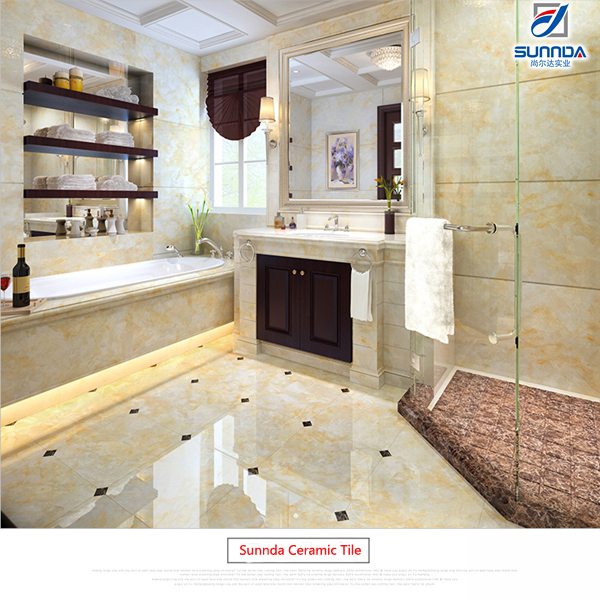 China Foshan Vertified Mall Flooring Marble Porcelain Polished Glazed Metallic Tiles,Shinny Porcellanto Bathroom Floor Tile