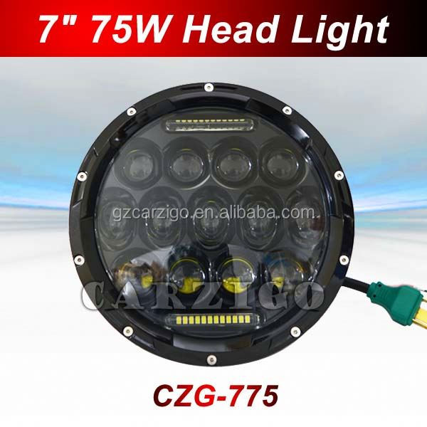 with high/low beam IP67 IP69K water-proof for off road,semi-truck,motor sealed beam 75W SUV light