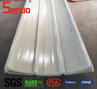 Translucent Fiberglass Roofing Sheets, Transparent Skylight GRP / FRP Roofing Sheets, Corrugated Fiberglass Roof Panels
