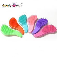 Anti Static Pain Free Compact Plastic Detangling Hair Brush