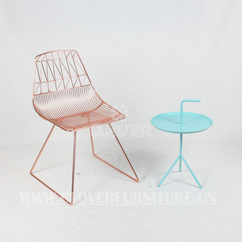 Modern Wire Chair Gold Color Bend Lucy Chair