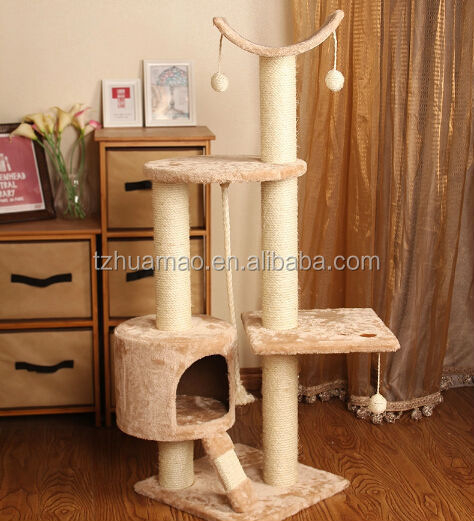 Cat Scratcher U0026 Hot Sale Cheap Wholesale Cat Tree For Cats Beige Cat  Furniture Cat Tree