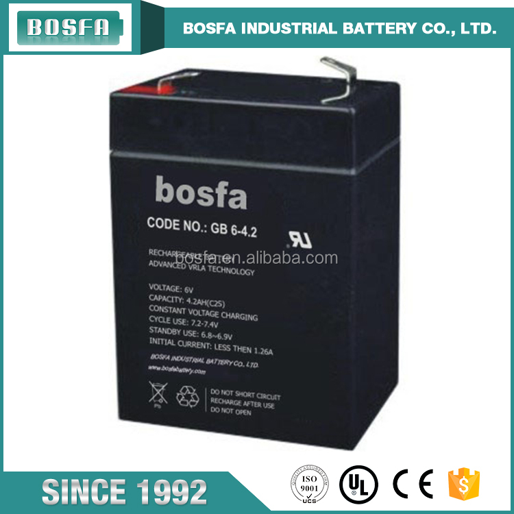 wholesale general battery series rechargeable 6v4.2ah lead acid battery for battery powered lcd tv