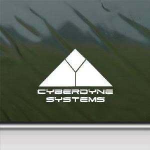 Car Cyberdyne Systems Bike Decoration Sticker Skynet Terminator Die Cut White Car Art Auto Helmet Wall Adhesive Vinyl Home Decor Vinyl Decor Notebook