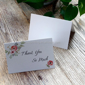 Wholesale custom printing greeting note paper folding handmade thank you cards with envelopes