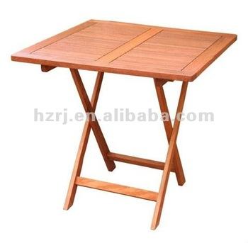 Folding Square Wooden Garden Table