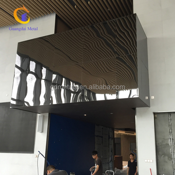 Exhibition Hall Mirror Stainless Steel Decorative Interior Wall Cladding Panels