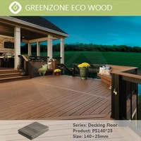 Natural style comfortable and durable outdoor balcony europe standard wpc decking